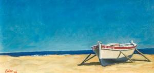 Boat on a Beach, Mediterranean Sea