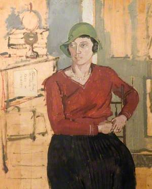 Portrait of a Woman in a Green Hat