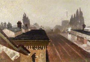 Letchworth Station, Scene at Dusk