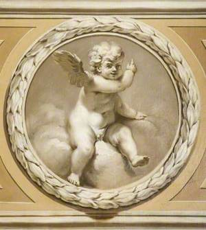 Winged Infant Pointing Upwards