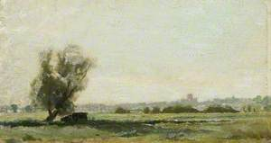 Study of St Albans from Sopwell Meadows