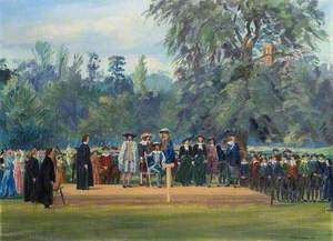 St Albans Pageant, 1948, Tableau with King Charles