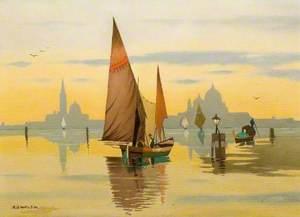 Boating Scene on the Venetian Lagoon