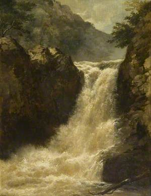 Waterfall near Pont-y-Mynach