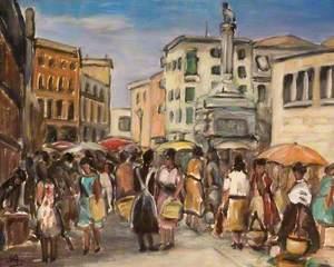 The Market in Genoa