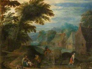 Landscape with Peasants and a Cart