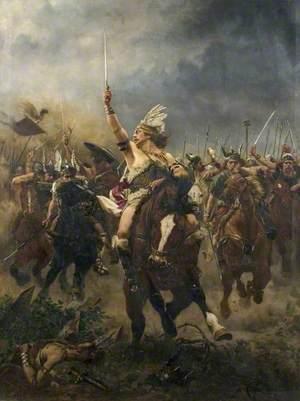 Viking Warriors Charging