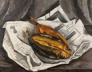 Still Life (Kippers on a Newspaper)