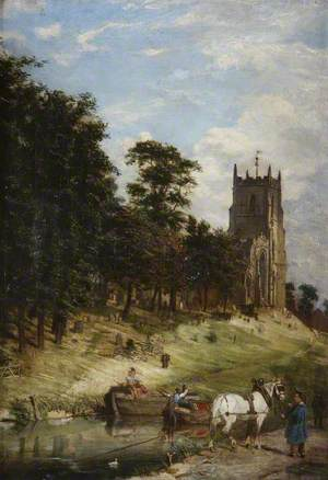 St Mary's Church and the Canal, Kidderminster, Worcestershire