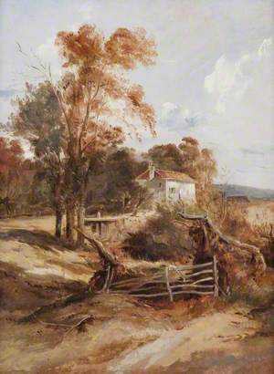 Landscape with Trees and a Cottage