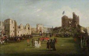 Parade of the Loyal Association in Dudley Castle Courtyard, 9 August 1798