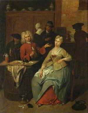 Tavern Scene (Man in a Red Jacket)