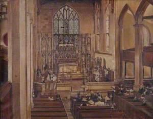 Interior, Holy Trinity Church, Wordsley, Stourbridge
