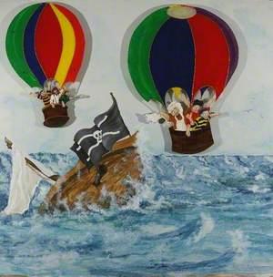 Children's Triptych (Balloons I )