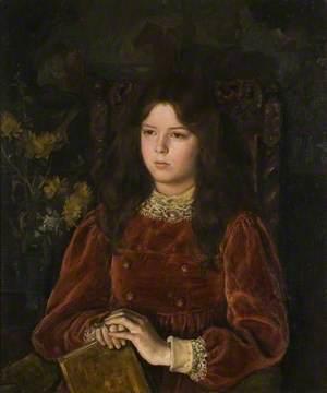 Portrait of a Girl in Red Velvet (Marjorie Hatton, 1895–1981)