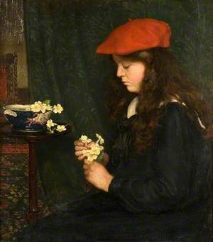 Portrait of a Girl in a Red Beret (Marjorie Hatton, 1895–1981)