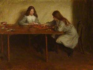 Playing Draughts, the Artist's Sisters