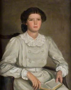 Ailsa Marr Hatton (1893–1949), in a Grey Dress
