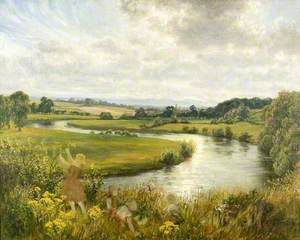 The River Wye at Sugwas, Herefordshire