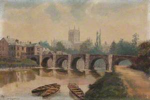 Hereford, Wye Bridge and Cathedral