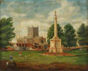 Hereford Cathedral and the Nelson Monument