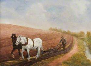 Two Horses Ploughing