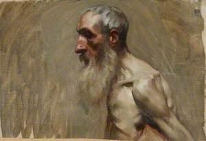 Half-Length Portrait of a Nude Man with a Beard