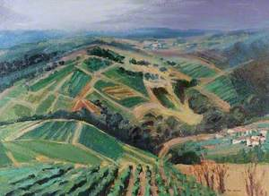 Beaujolais Country: A Misty Evening after a Rainy Day