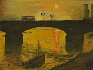 Battersea Bridge with Sunset