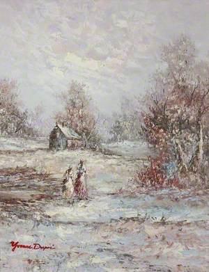 Winter Scene with Figures