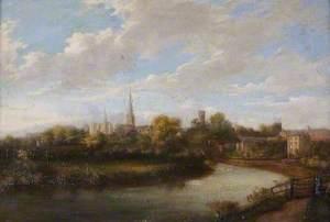 Shrewsbury from Castlefields, Shropshire