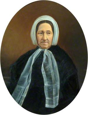 Sarah Cole, née Roberts (1796–1878), Wife of Thomas Cole