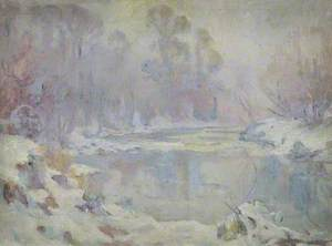 River Scene in Winter