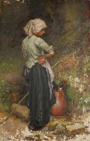 A Village Girl with Pitcher