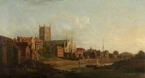 Worcester from the Severn