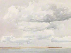 Cloud Study with Low Coastline