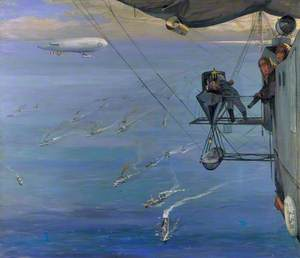 A Convoy, North Sea: From NS 7, Painted from an Airship off the Coast of Norway