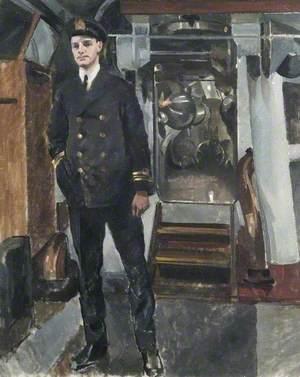 E.45: The Commander, Lieutenant-Commander J. E. Gaimes, DSO, RN