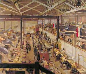 An Aircraft Assembly Shop, Hendon