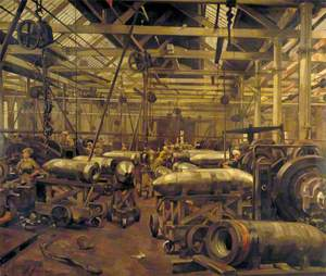 Shop for Machining 15-Inch Shells: Singer Manufacturing Company, Clydebank, Glasgow