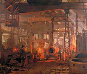 The 'L' Press: Forging the Jacket of an 18-Inch Gun, Armstrong-Whitworth Works, Openshaw