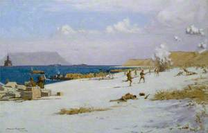 Troops Landing on C Beach, Suvla Bay, Later in the Day, 7 August 1915