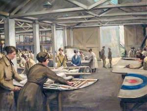 No. 1 Southern Aircraft Repair Depot, South Farnborough: Women's Royal Air Force at Work on Aeroplane Salvage