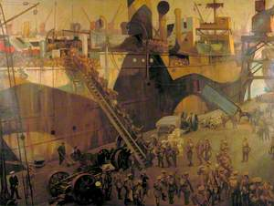 Troops Embarking at Southampton for the Western Front