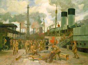 Loading Wounded at Boulogne