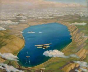 The Sea of Galilee: Aeroplanes Attacking Turkish Boats