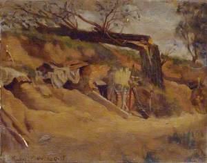 Epéhy: In a Sunken Roadway near the Regimental Aid Post of the 7th Battalion Royal Sussex Regiment