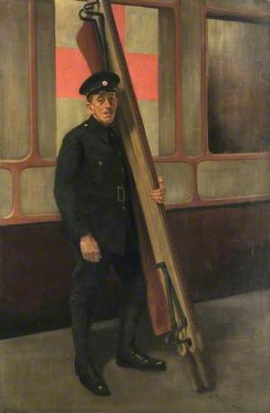 A British Red Cross Society and Order of St John of Jerusalem Stretcher-Bearer