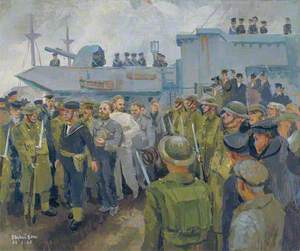 U-Boat Prisoners Landing from HMS 'Starling', 24 February 1944
