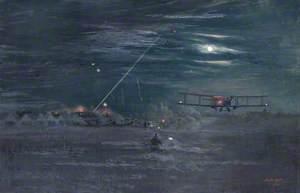 Night Bombers Getting Off from Trezennes Aerodrome, 1917